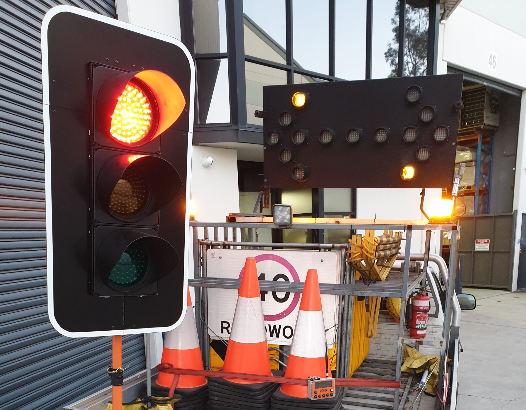 Portable Traffic Control Signals & Arrow Board